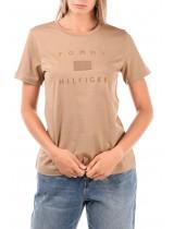 Μπλούζα Tommy Hilfiger - Κάμελ